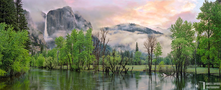 Yosemite Falls, Cloudy Sunrise
